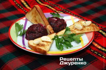 Фото рецепта салат свекла счесноком