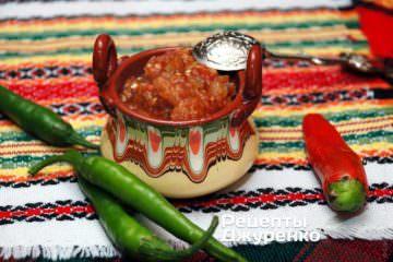 Фото рецепта зеленая икра— кьопоолу