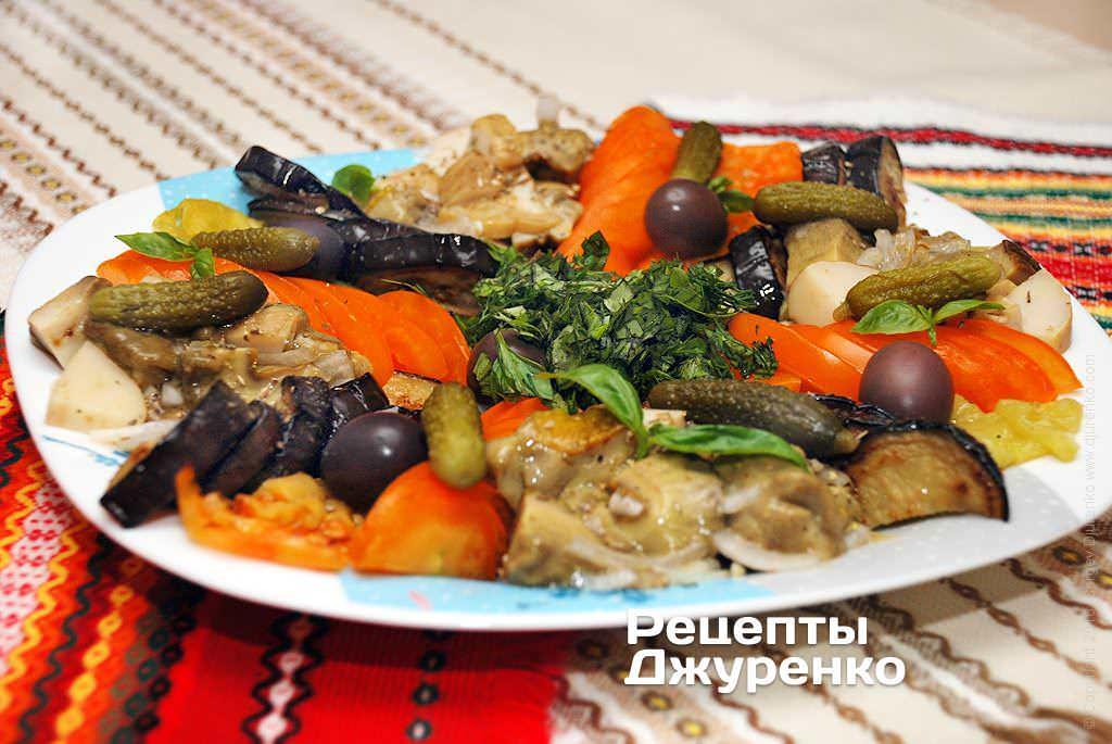 грибной салат фото рецепта