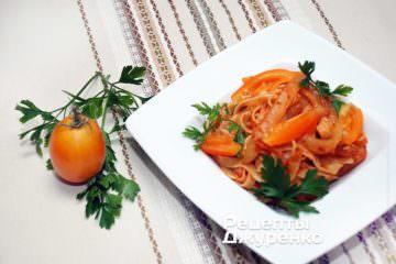 Фото к рецепту: паста сболгарским перцем