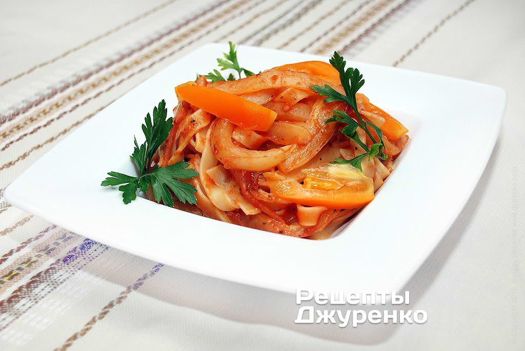 паста з болгарським перцем фото рецепту
