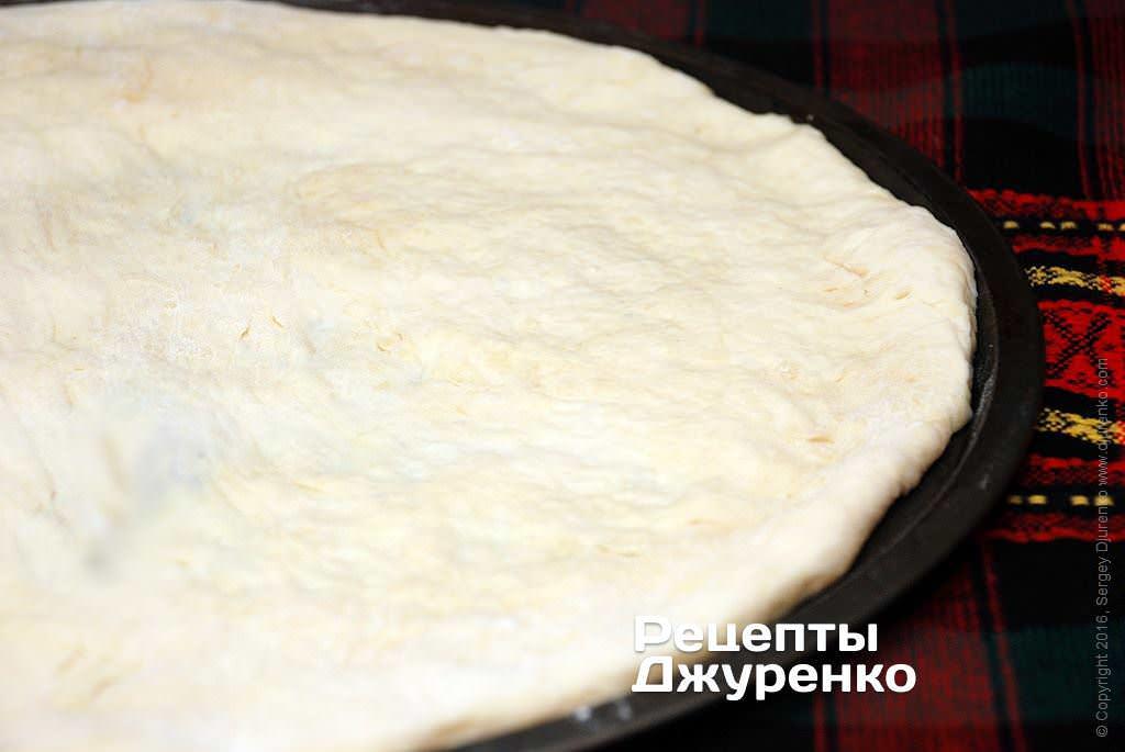 Хрустящее тонкое тесто для пиццы