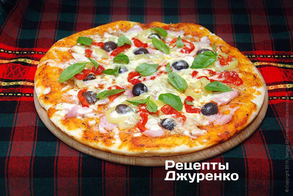 Фото готового рецепта пицца с болгарским перцем в домашних условиях