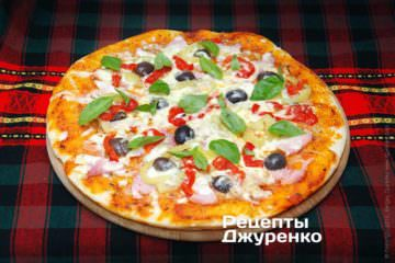 Фото к рецепту: пицца с болгарским перцем