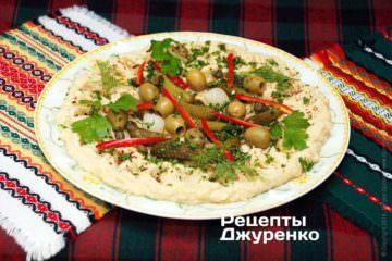 Фото рецепта хумус — закуска изнута