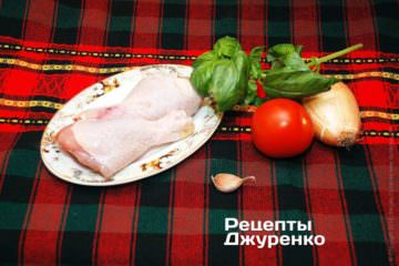 Курица и овощи для блюда