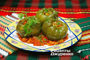 Фото до рецепту: перець фарширований овочами