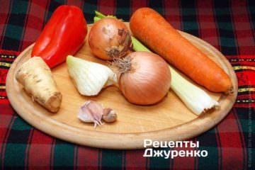 Овощи для приготовления блюда