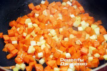 обжарить морковку ипастернак