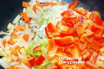 Добавить нарезанный фенхель ичерешковый сельдерей