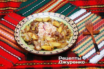 картошка жареная насковороде
