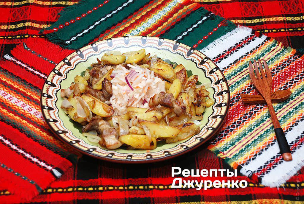 Как пожарить картошку с мясом и луком на сковороде пошаговый рецепт с