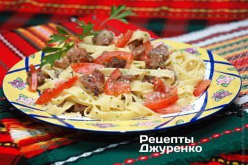Фото к рецепту: паста с мясом