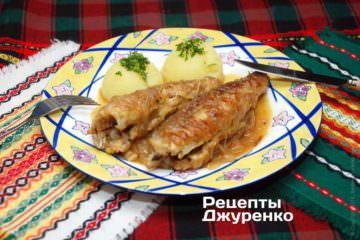 Рыба тушеная с луком
