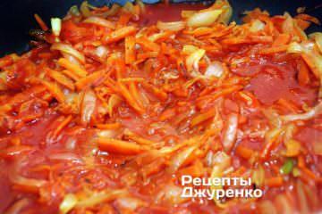 Лук и морковь должны стать совершенно мягкими