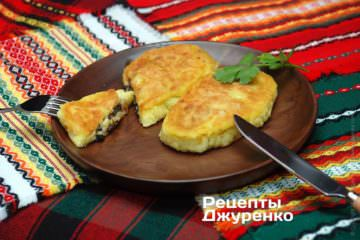 Фото рецепта картофельные зразы с грибами
