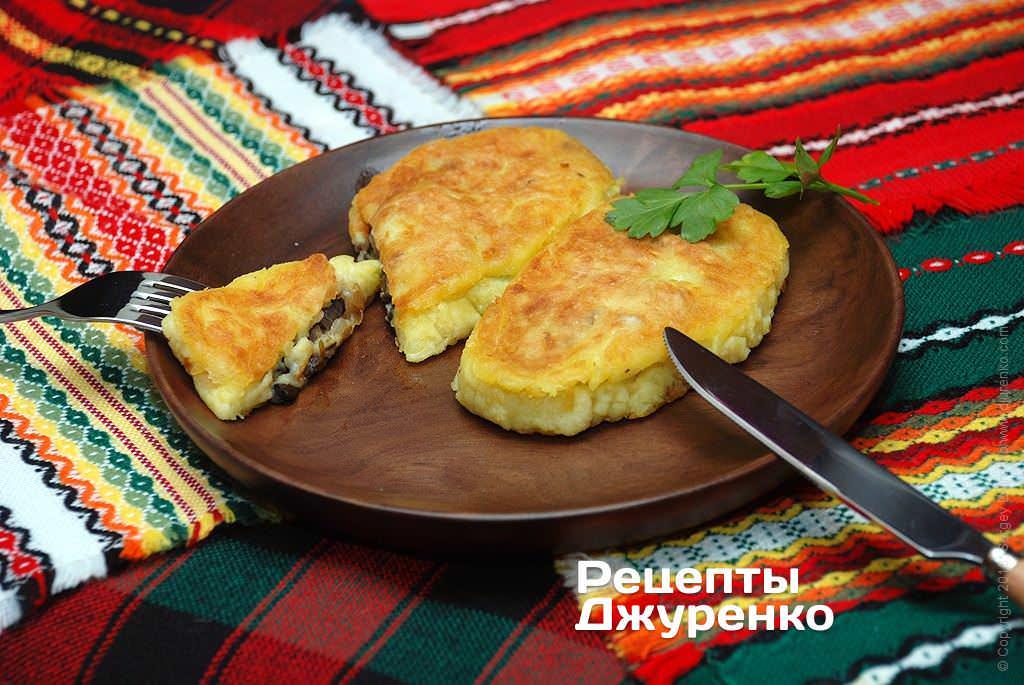 картофельные зразы с грибами фото рецепта