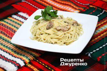 Фото рецепта спагетті з куркою