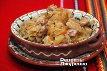 Фото рецепта тушкована квашена капуста