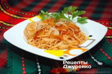 Фото рецепта соус з цибулею для пасти