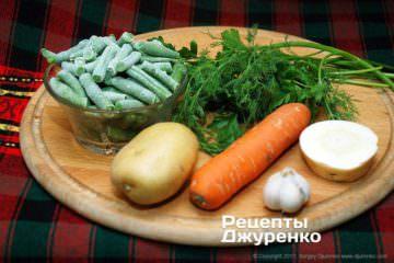 Овочі для супу