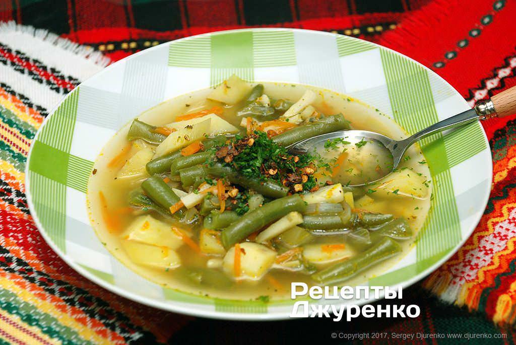 Суп із стручкової квасолі