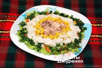Фото рецепта салат стунцом консервированным