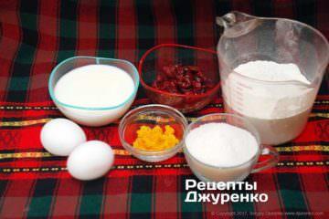 Інгредієнти для випічки мафінів