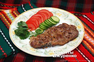 Фото до рецепту: м'ясо на грилі