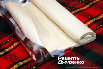 Напівфабрикат листкове тісто