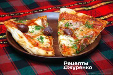 Фото до рецепту: піца на листковому тісті