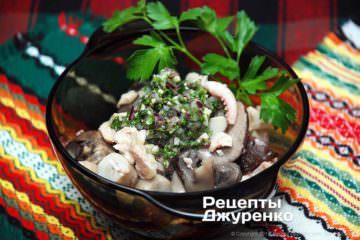 Салат сморепродуктами