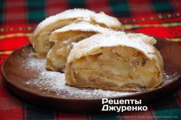 Фото рецепта яблочный штрудель