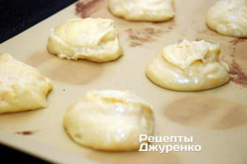 порции теста для пирожных