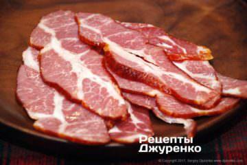 Нарізка в'яленого м'яса