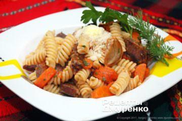 Фото рецепта паста сговядиной