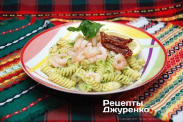 Фото рецепта паста з креветками