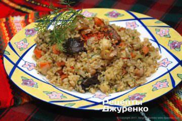 Фото рецепта булгур з овочами