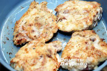 обсмажувати куряче м'ясо