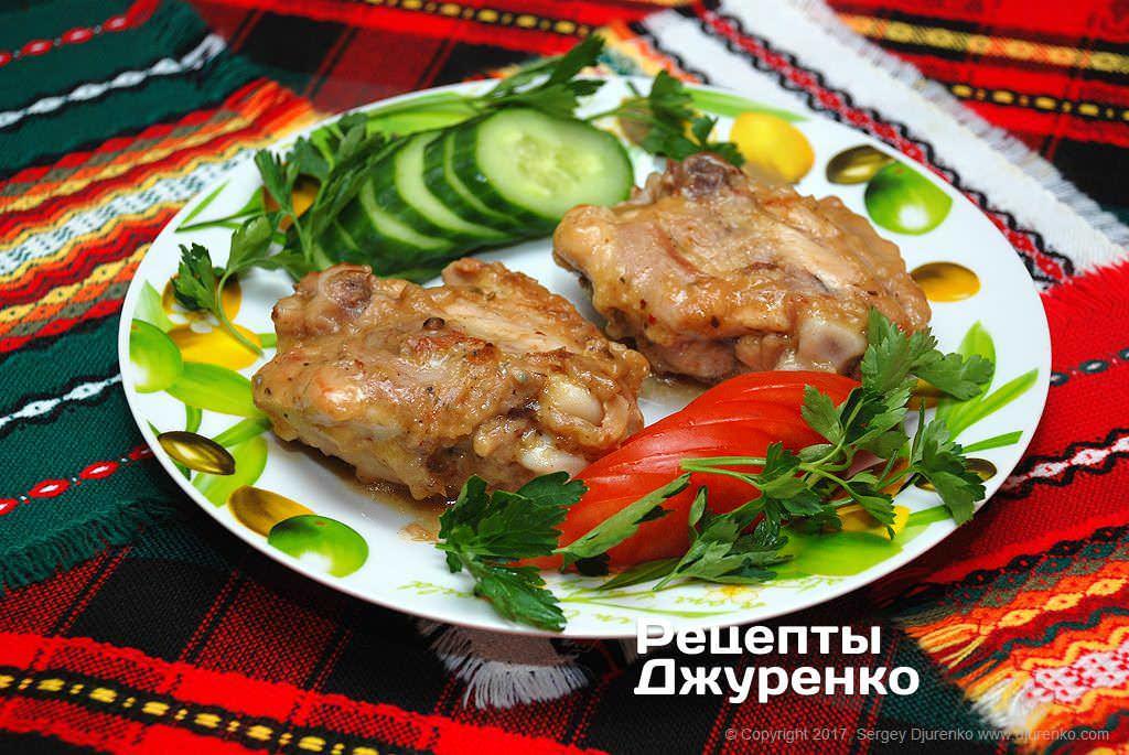 Фото готового рецепта курица в кисло-сладком соусе в домашних условиях