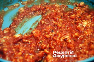 измельчить рыбу в соусе