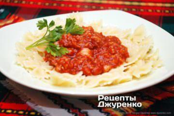 Фото до рецепту: томатний соус з рибою