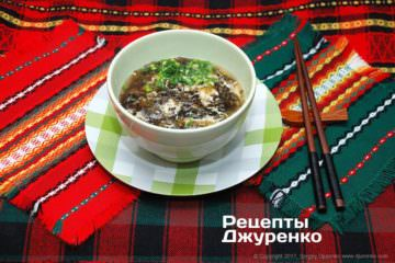 китайський суп з яйцем