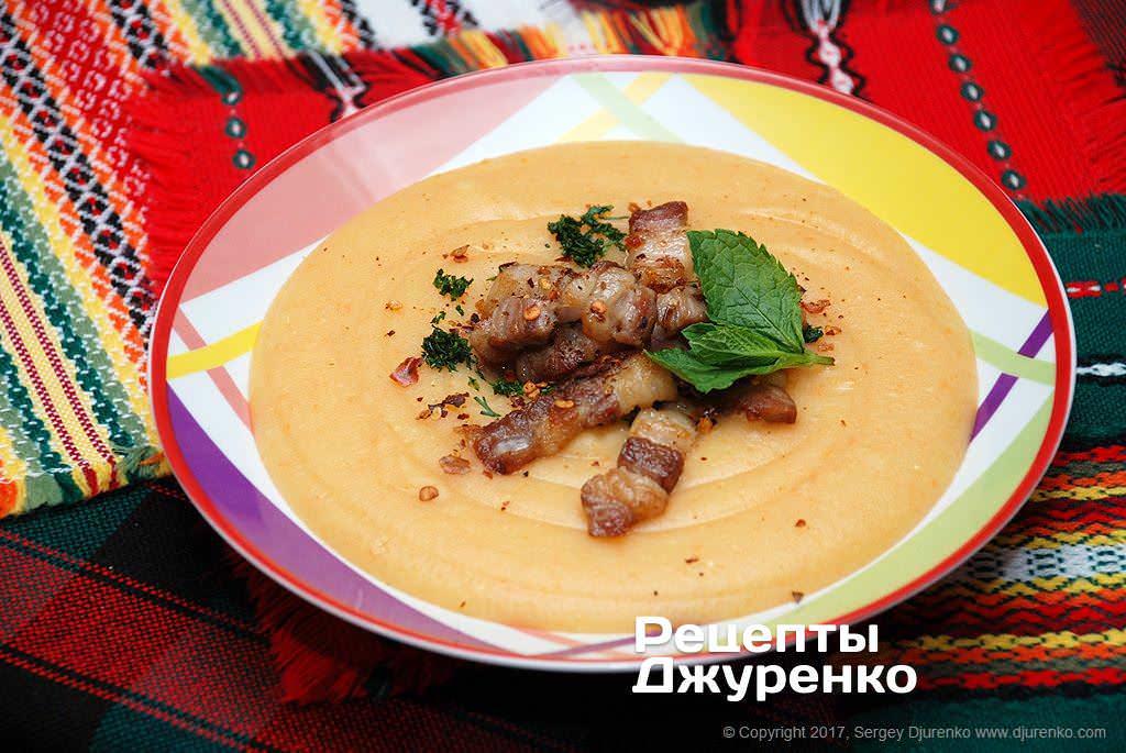 Фото готового рецепта картофельный суп в домашних условиях