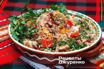 Фото рецепта рис с фасолью