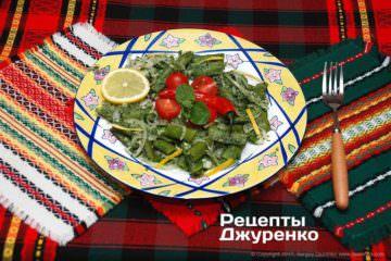 Салат сзеленым горошком