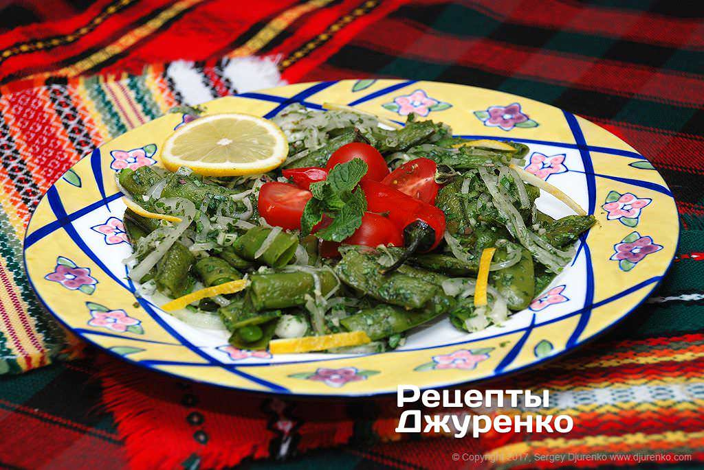 Фото готового рецепта салат с зеленым горошком в домашних условиях