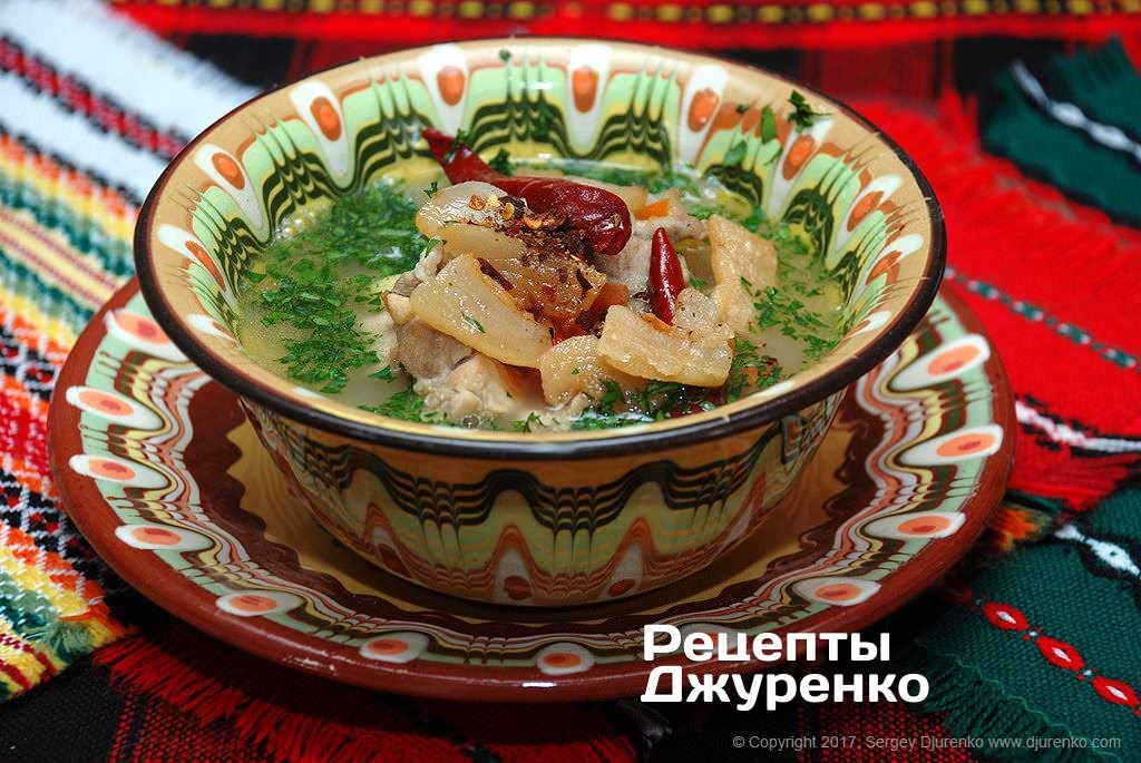 Фото готового рецепта суп с белой фасолью в домашних условиях