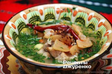 добавить в суп шкварки