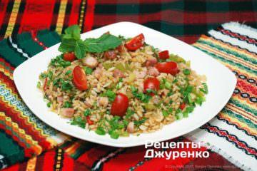 Фото рецепта салат з рисом